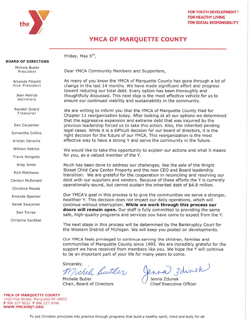 YMCA of Marquette County - Membership