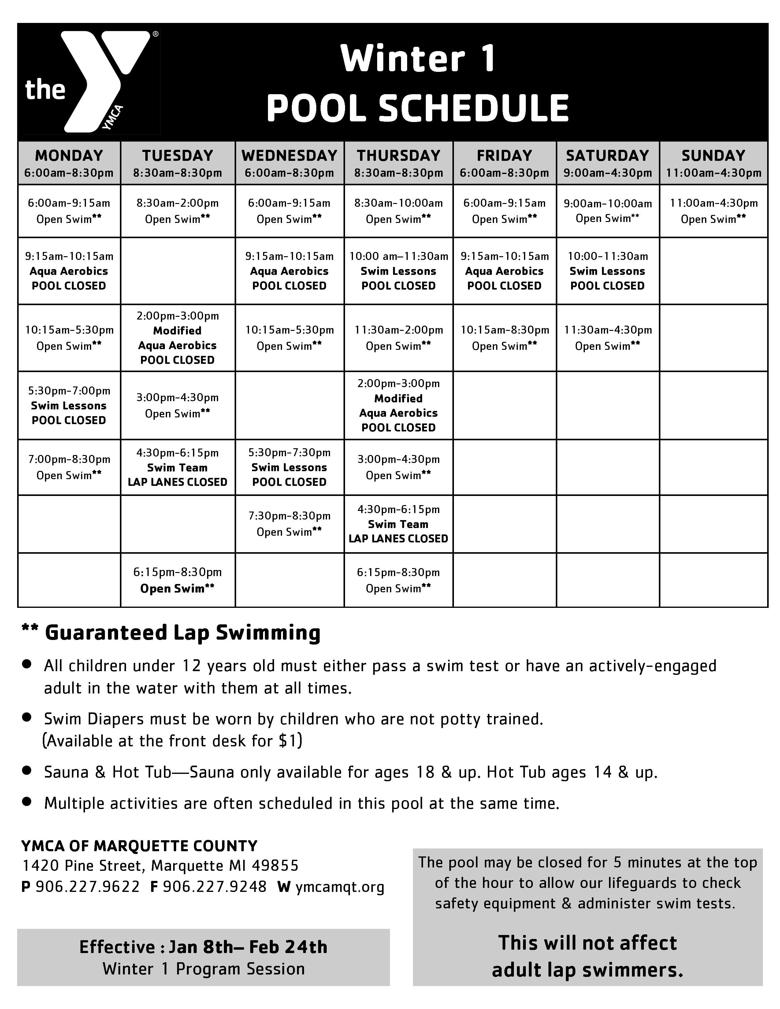 Ymca Open Gym Schedule