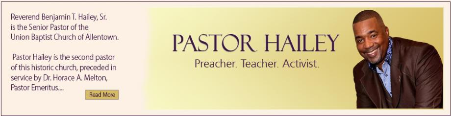 About Pastor Hailey