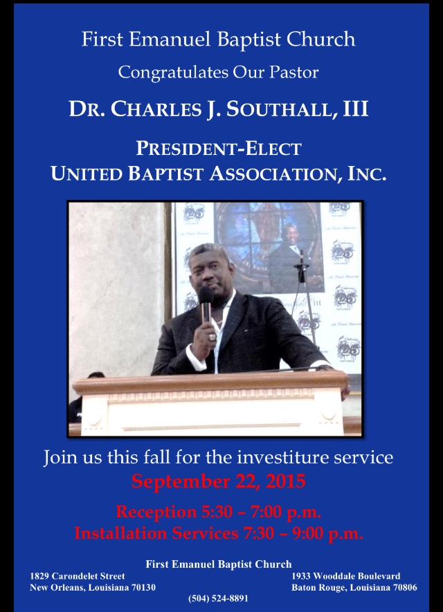 Pastor Congratulatory