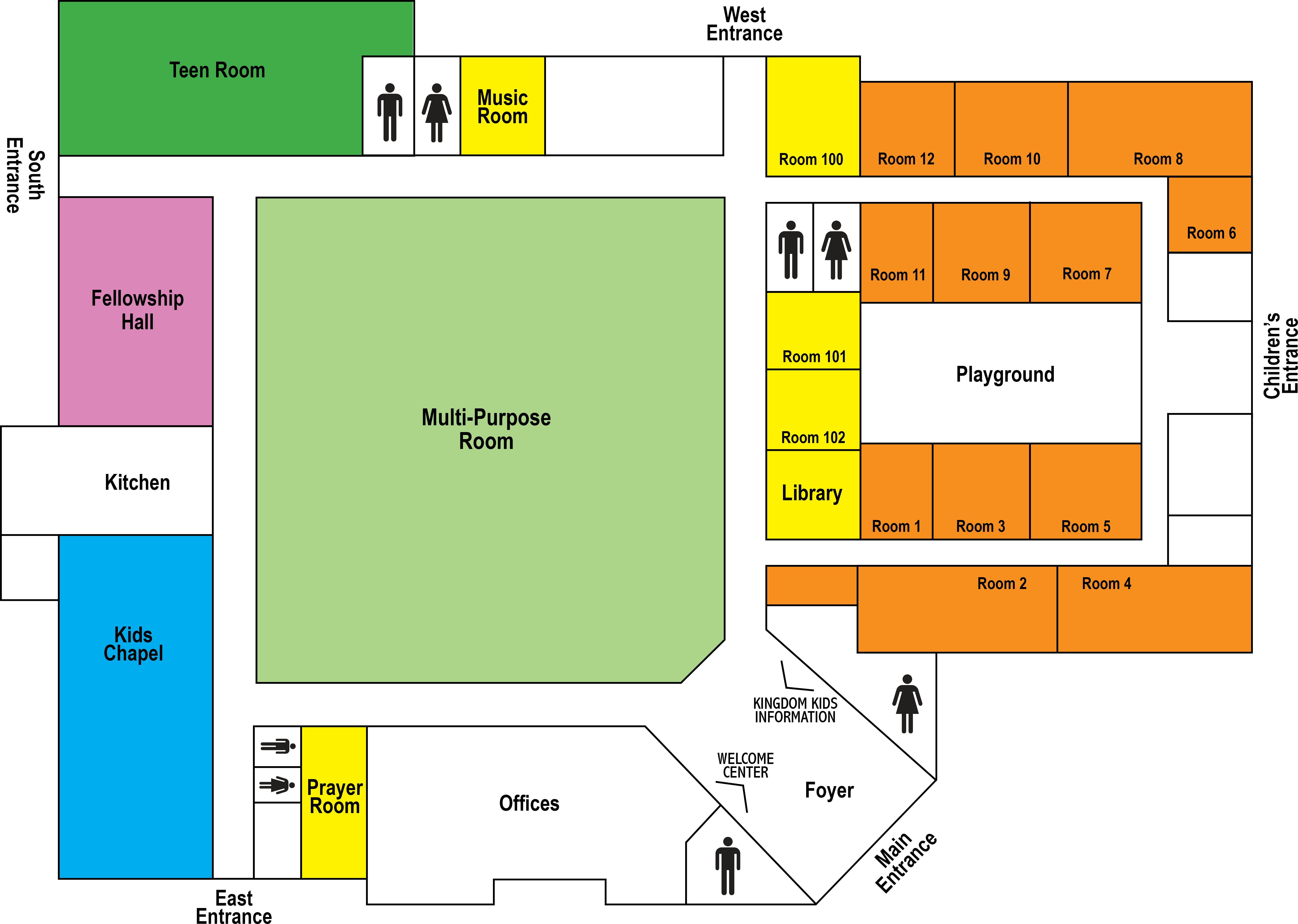 State College Assembly Of God Church Facility Map