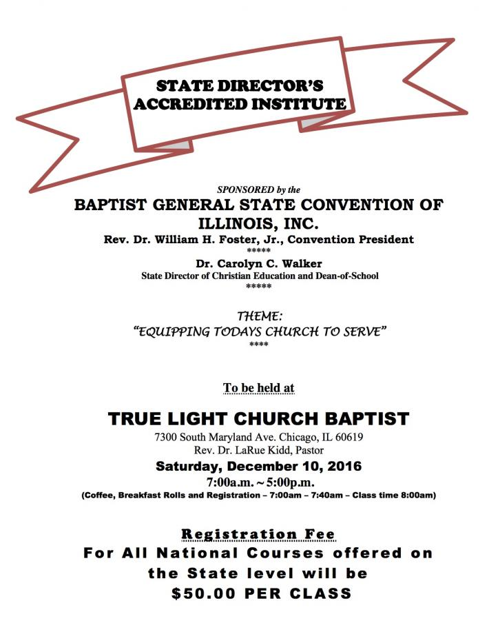 Baptist General State Convention of IL, Inc  - From the Desk