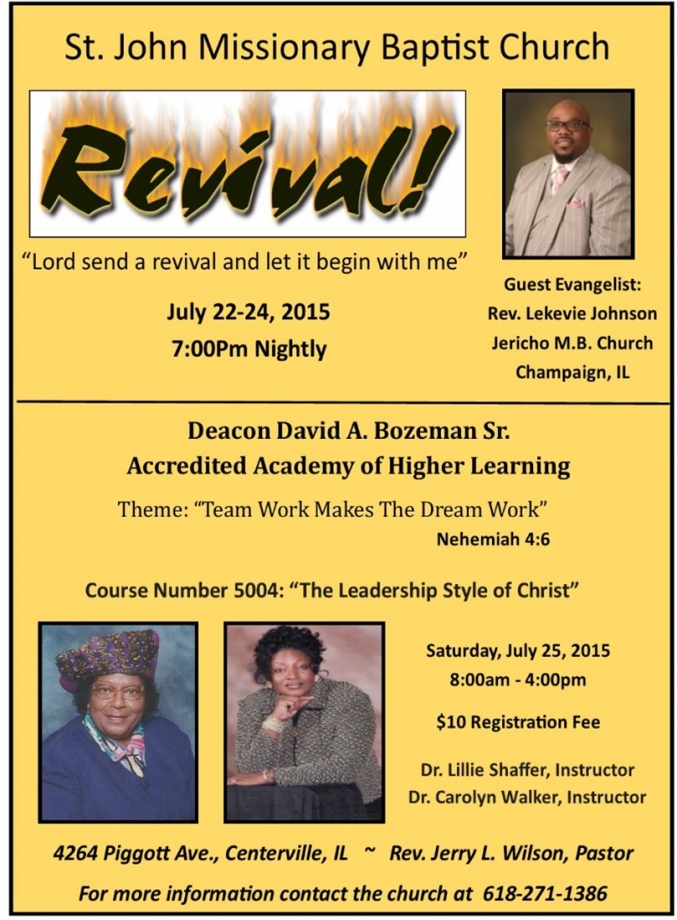 Baptist General State Convention of IL, Inc  - Events
