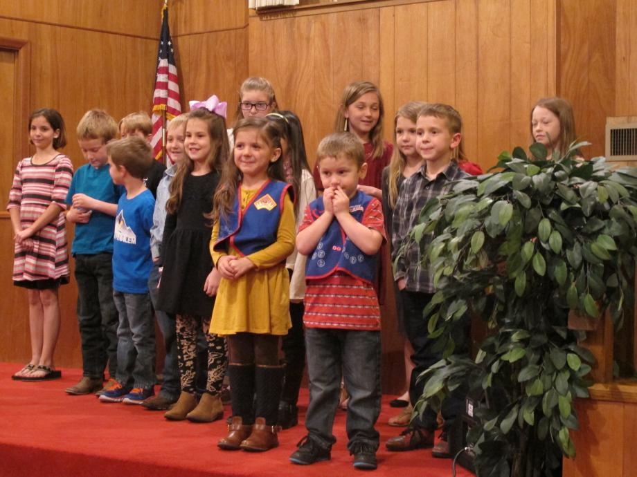 Children leading in worship.