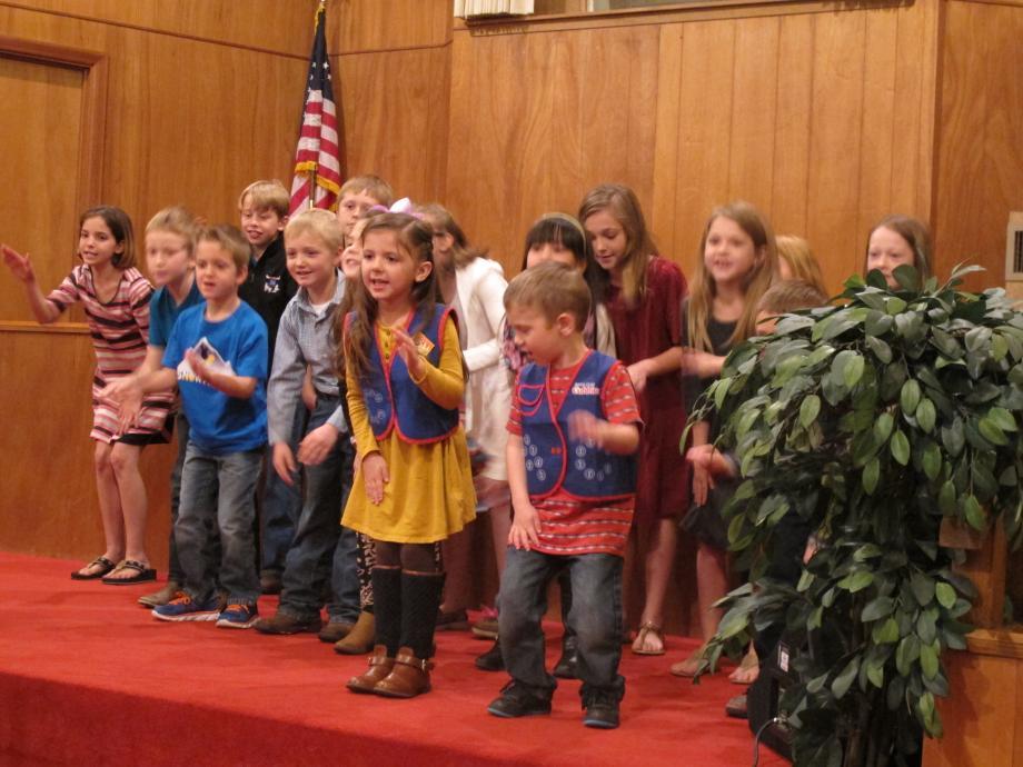Children leading in worship