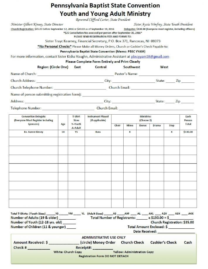 Pennsylvania baptist state convention yyam registration forms 2018 forms for download are forthcoming thecheapjerseys Gallery
