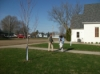 Placing Easter Eggs for the Egg Hunt
