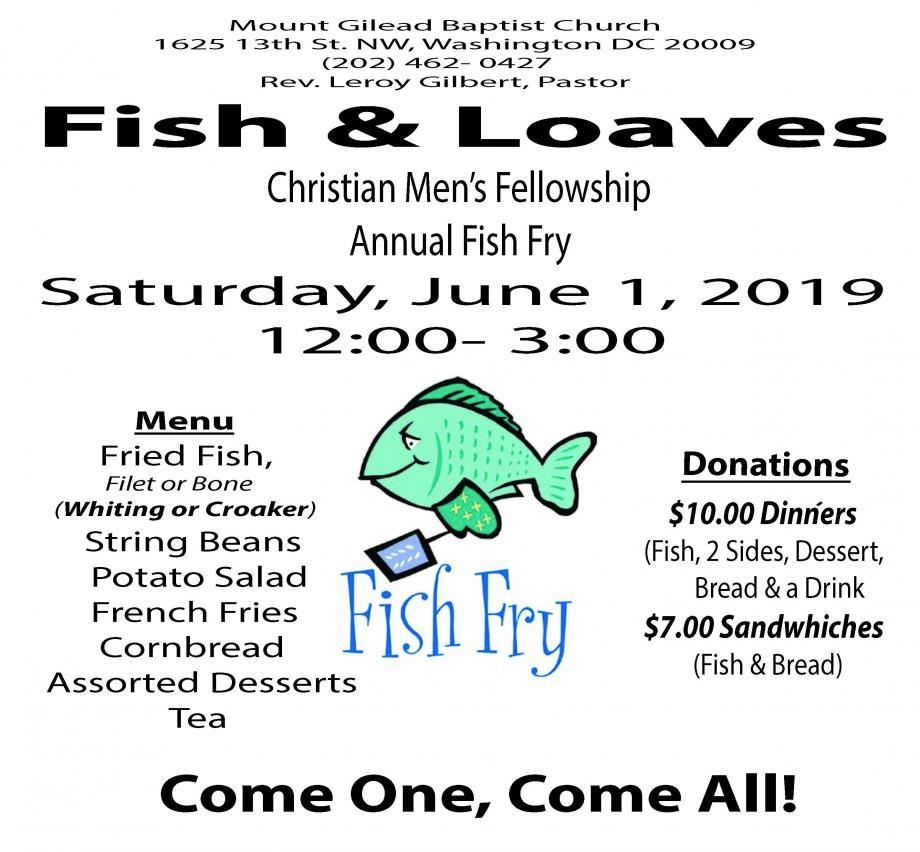 Christian Men's Fellowship Annual Fish Fry