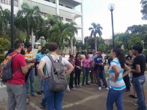 Uconexion Prayer Walk on Campus