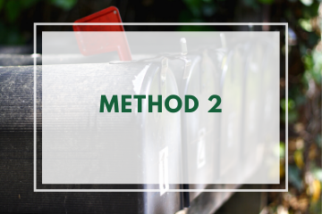 Method 2: Giving via U.S. Mail