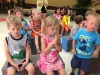 Praying little ones during VBS