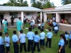 Circling to pray in front of Belize school