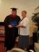 Rev. J. Paul Chapman receiving his Masters degree