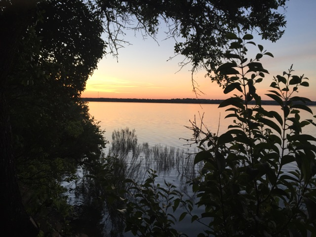 Sunrise at Lake Brownwood on Saturday